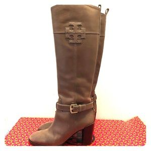 Tory Burch Blaire Riding Boot in Musk
